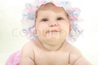cute baby girl over white