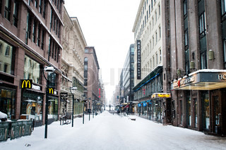 Image of 'finland, snow, street'
