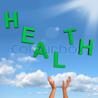 Catching Health Word Showing A Healthy Condition