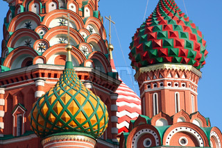 Basil's Cathedral in Red Square, Moscow, Russia