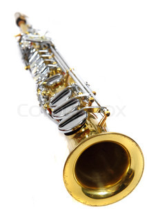 clarinet music instrument isolated on the white background
