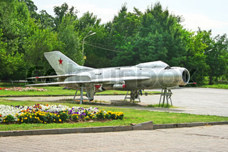 Old plane of Soviet Union from WW2 in Victory park, Yerevan, Armenia