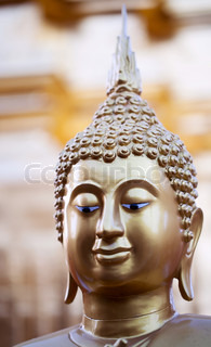 Head of Buddha statue in Doi Suthep Wat in Chiang Mai