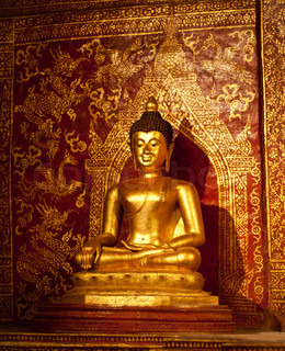 Statue of Buddha inside the temple