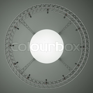 a center stage with metal frame, put your object in the center