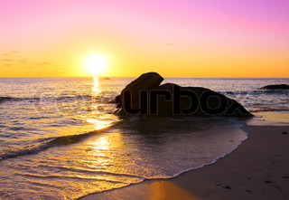 Sunset Sea Shore