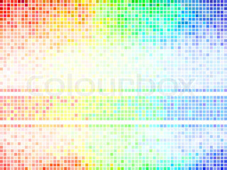 Multicolor abstracttile background Square pixel mosaic vector