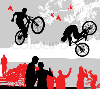 Vector of 'people, sport, background'