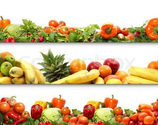 5 ernæring teksturer frugter og grøntsager isoleret på hvidt
