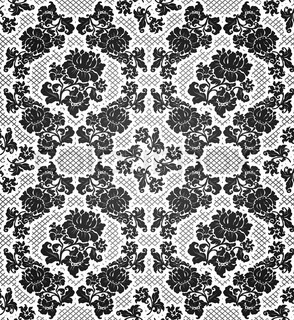 Lace background, ornamental flowers