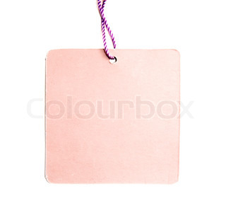 blank price tags on white background