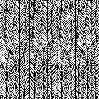 Optical illusion: Black and white abstract seamless pattern