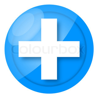 First aid icon with medical cross isolated on white background