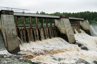 Dam of a hydroelectric power station