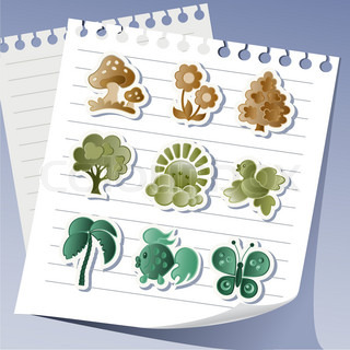 Funny animal paper stickers