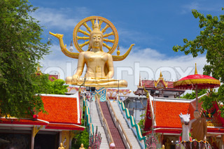 big buddha statue on koh samui, thailand