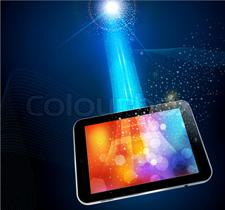 abstract background with a modern tablet