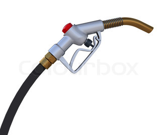 Fuel pump nozzle. 3d rendering