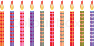 vector colorful birthday candles