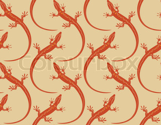 lizards seamless wallpaper pattern