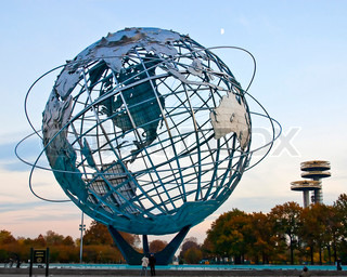 Globe SculptureIn Corona Park of Queens