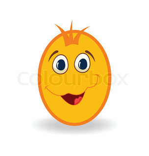 easter egg character isolated on white background