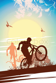 Vector of 'adult, silhouette, background'