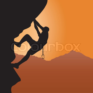 Rock climbing | Vector | Colourbox