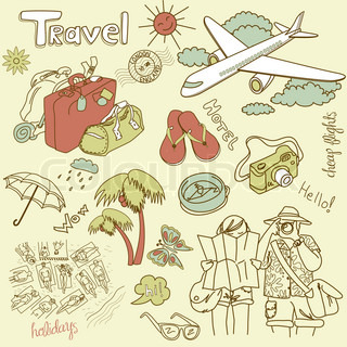 Travel doodles Vector illustration