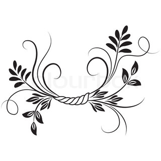 Vector of 'decorative, flower, tendril'