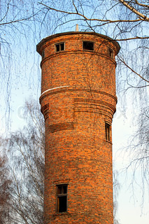 The old water tower of bricks