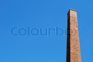 Old brick tower chimney from a old factory