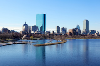 Boston skyline from the Charles River, Massachusetts, USA