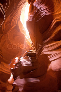 Rose-colored sandstone of Antelope Canyon, Arizona, USA