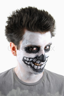 Creepy skeleton guy Carnival face painting