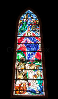 Stained glass window in Washington Masonic National Memorial