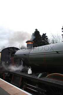 Antique steam train