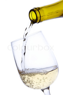 Pouring White Wine