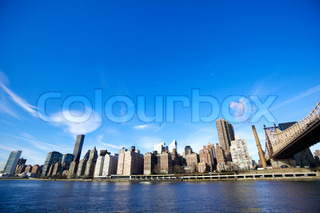 Midtown Manhattan with New York City skyline and Queensboro Bridge over East River