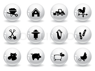 Web buttons, farming icons