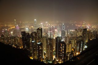 Hong Kong at night View from the Victoria Peak