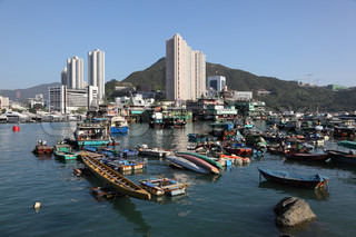 Harbor in Hong Kong Aberdeen