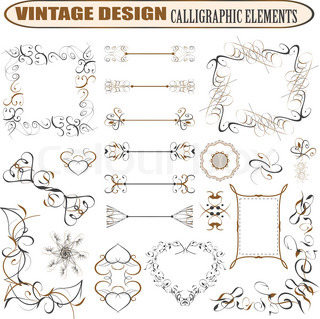 decorative ornate design elements calligraphic page decorations