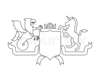 knight helmet heraldic shield set template heraldry design element