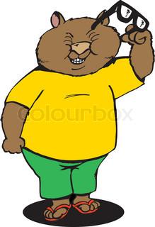 wombat wearing sunglasses