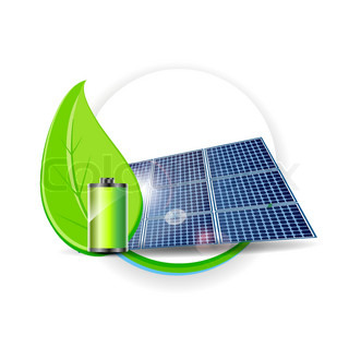 Solar panel vector Electricity Environmental Concept