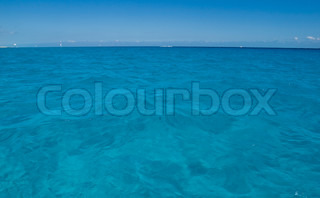 Calm waterof Caribbean sea