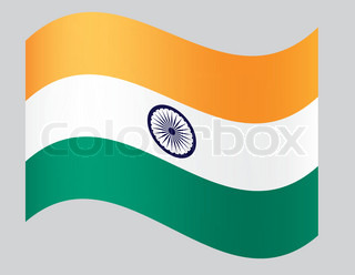 fly-away national Indian flag vector illustration