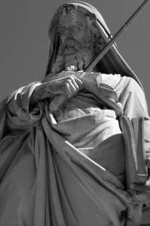 st. Paul statue in Rome - for st. Paul basilica