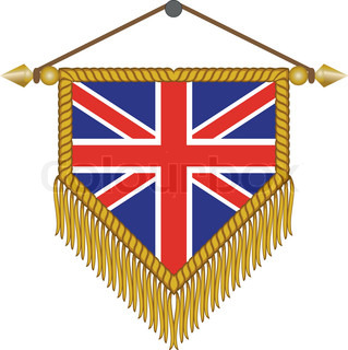 vector pennant with the flag of Great Britain